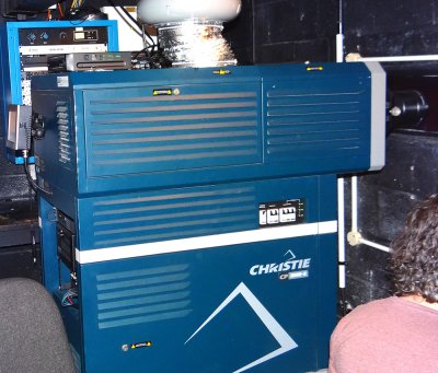 Christie CP2000-S digital cinema projector at the Wharf
