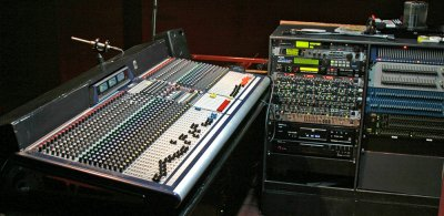 Soundcraft GB8 desk and audio racks at Tavistock Wharf
