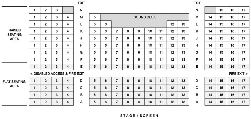 Tavistock Wharf Seating Plan for Seated Events