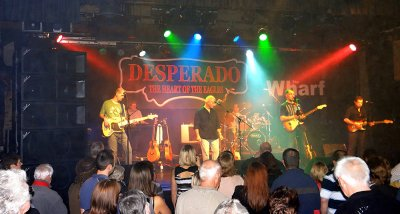Desperado playing at the Wharf